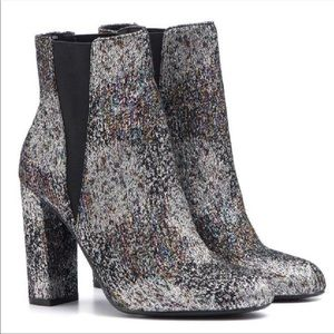 Steve Madden Multicolor Sparkle Effect Booties